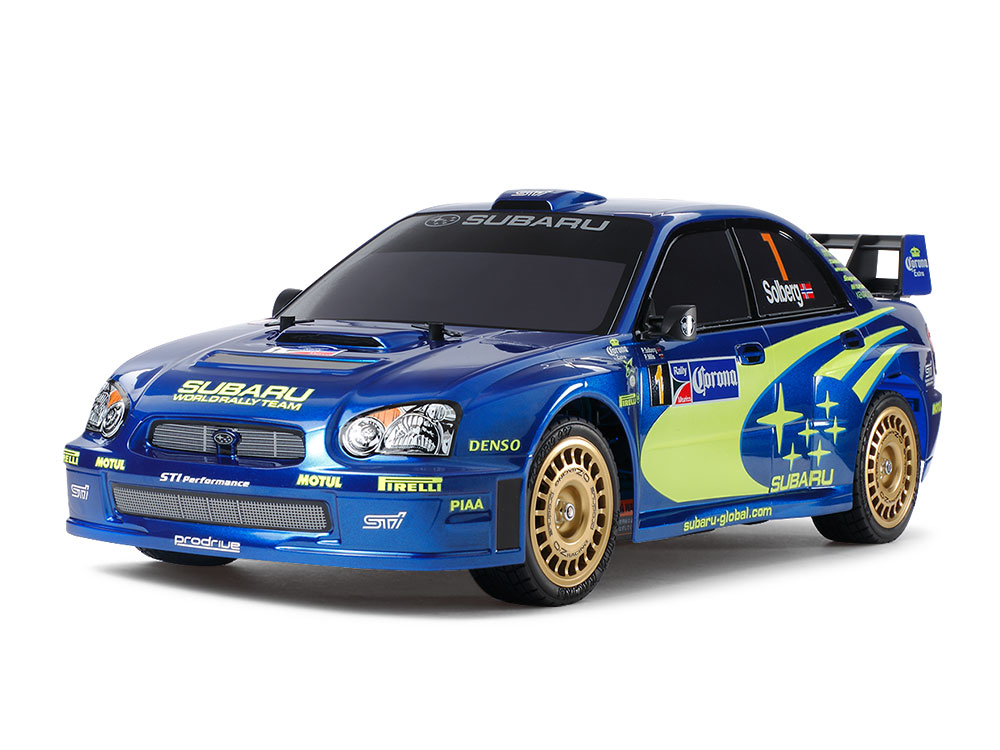 1/10 SCALE R/C 4WD HIGH PERFORMANCE RACING CAR SUBARU IMPREZA MEXICO 2004 (TT-01 TYPE-E CHASSIS)