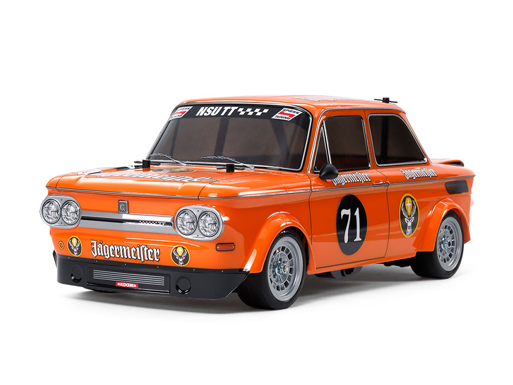 1/10 SCALE R/C HIGH PERFORMANCE RACING CAR NSU TT JAGERMEISTER (M-05 CHASSIS)