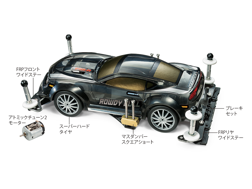 MINI 4WD STARTER PACK FM-A BALANCED SPEC (ROWDY BULL)
