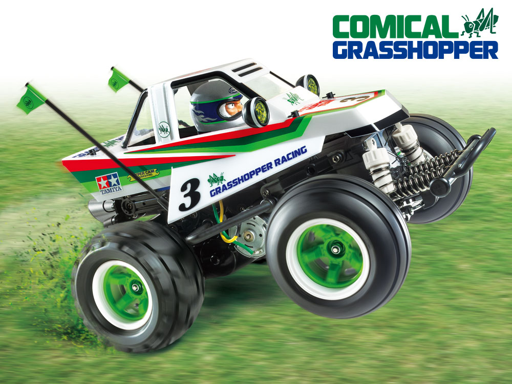 1/10 SCALE R/C CAR COMICAL GRASSHOPPER (WR-02CB CHASSIS)