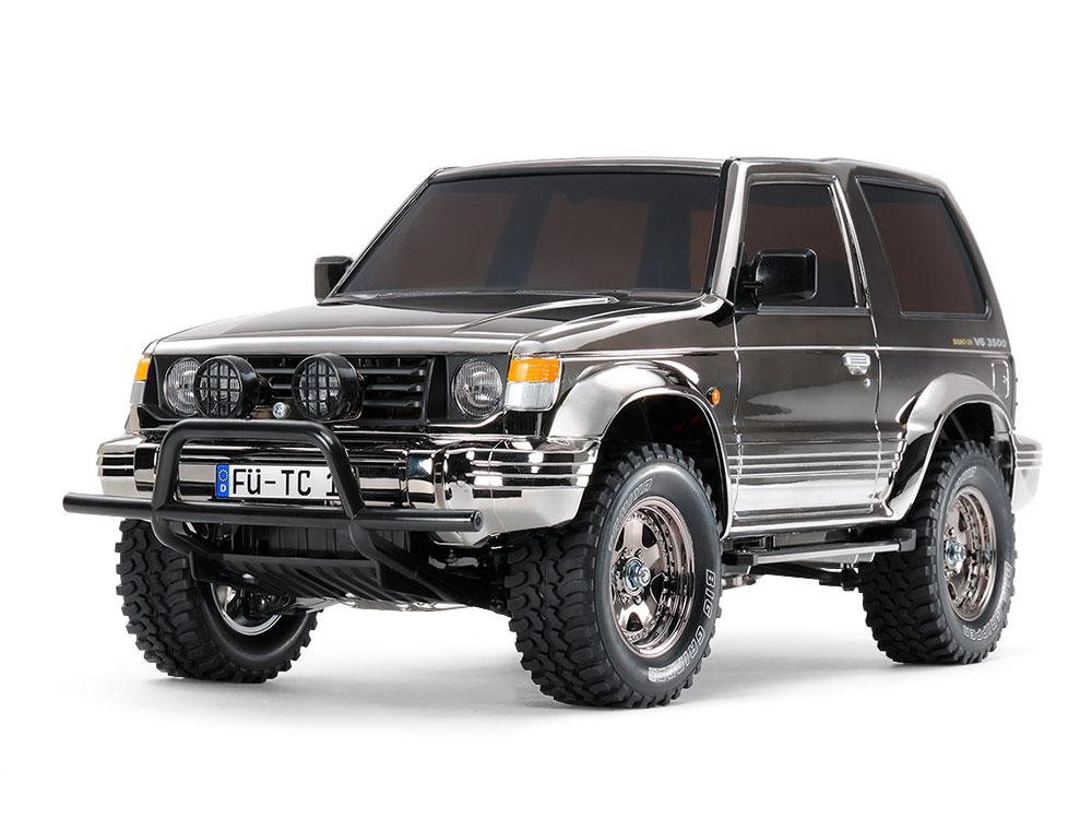 1/10 SCALE R/C 4WD HIGH PERFORMANCE OFF ROAD CAR MITSUBISHI PAJERO METALTOP WIDE BLACK METALLIC