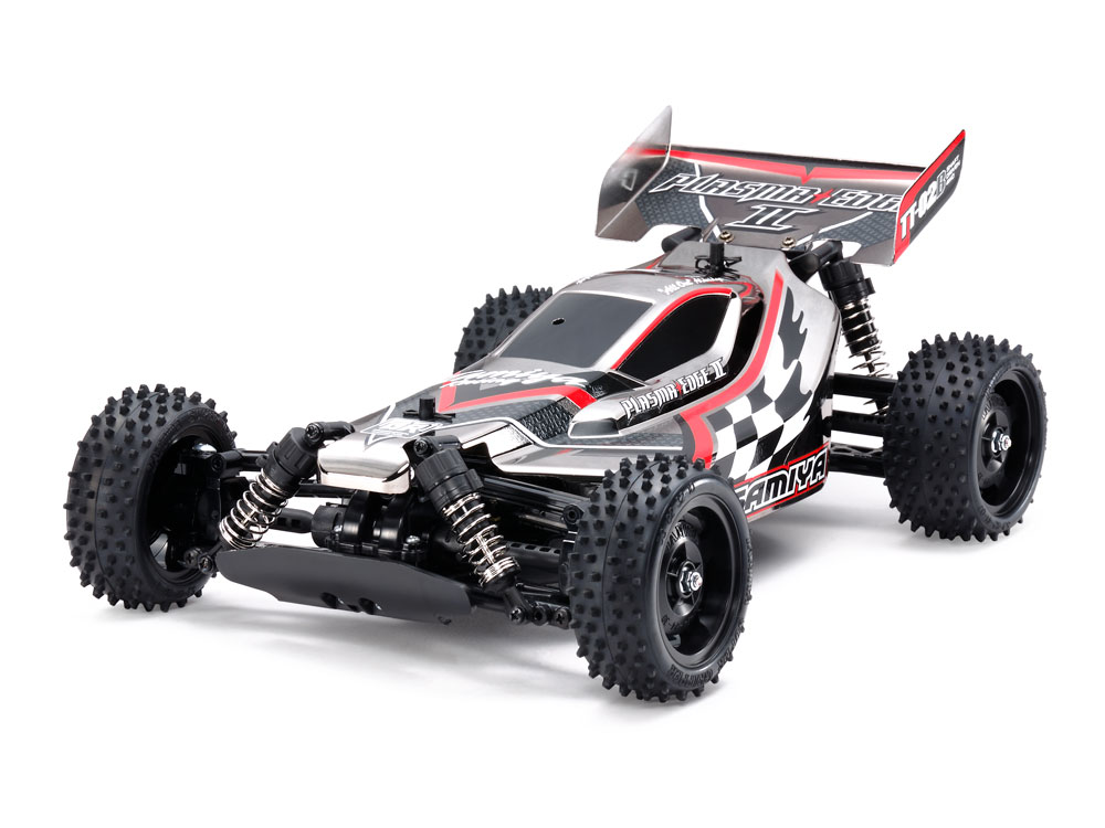 1/10 SCALE R/C 4WD HIGH PERFORMANCE OFF ROAD RACER PLASMA EDGE II BLACK METALLIC (TT-02B CHASSIS)