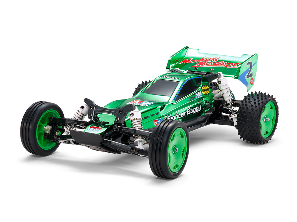 1/10 SCALE R/C HIGH PERFORMANCE OFF ROAD RACER NEO FIGHTER BUGGY GREEN METALLIC (DT-03 CHASSIS)
