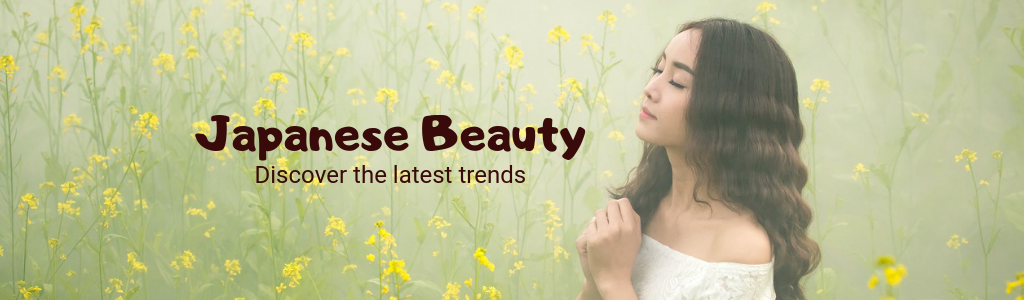 Japanese beauty goods and makeup showcase page